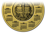 New 2017 Calendar Medal Design