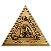 Doane College triangle medal