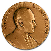 Calvin Coolidge Presidential Inauguration Medal