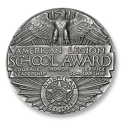 Figure 4: The reverse of the 1925 female version of theAmerican Legion School Award.