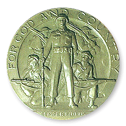 Figure 5: The obverse of the 1951 version of the American Legion School Award.