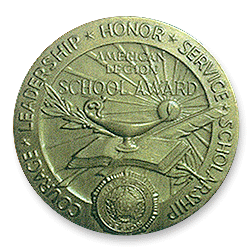 Figure 6: The reverse of the 1951 version of the American Legion School Award.