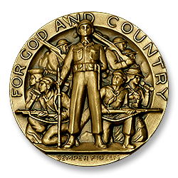 Figure 7: The obverse of the 1959 version of the American Legion School Award.