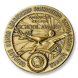 Figure 8: The reverse of the 1963 version of the American Legion School Award.