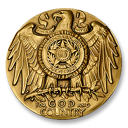 Figure 9: The obverse of the 1973 version of the American Legion School Award.