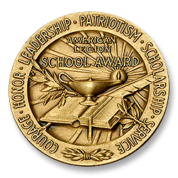 Figure 10: The reverse of the 1973 version of the American Legion School Award.