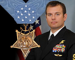 Navy Senior Chief Edward C. Byers Jr., the latest recipient of the Medal of Honor.