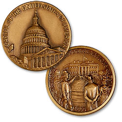 U.S. Capital Medal, part of the U.S. National Parks series of medals.