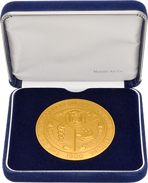 Blue Velvet Medal Box