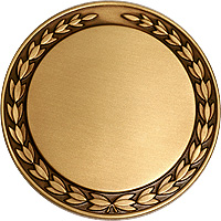 Recessed Wreath medal