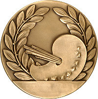 Wreath & Palette medal