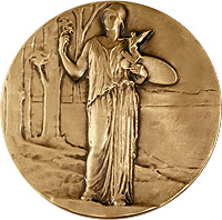 Woman with Palette Medallion
