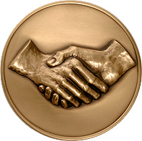 Shaking Hands Medal